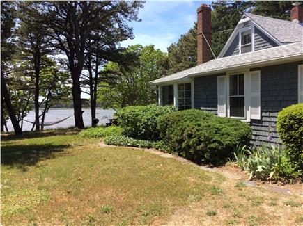 South Wellfleet Cape Cod vacation rental - Side yard with hammock, grill, picnic table.