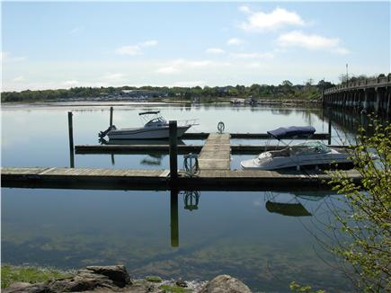 South Yarmouth Cape Cod vacation rental - Boat slips and the Bass River Bridge