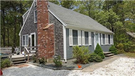 eastham Cape Cod vacation rental - Front of house faces East, shell driveway