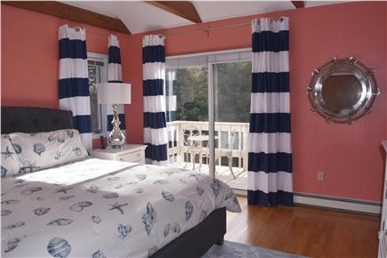 Chatham Cape Cod vacation rental - 2nd master with King size bed and private deck with table & chair