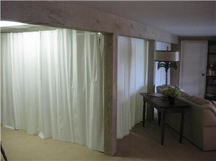 Centerville Centerville vacation rental - Downstairs bedroom with curtains