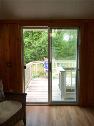 Eastham Cape Cod vacation rental - Sliders off living room lead to the deck