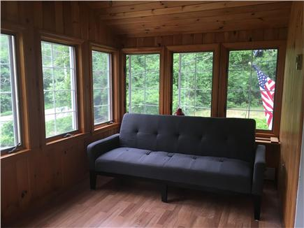 Eastham Cape Cod vacation rental - Super sunny sun room with futon