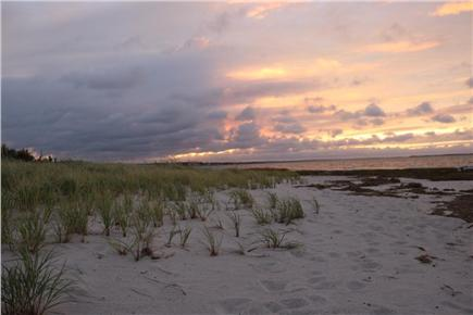 Barnstable, Cummaquid Cape Cod vacation rental - Sunset over private beach 100 yards away