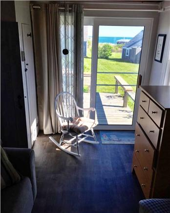 Barnstable, Cummaquid Cape Cod vacation rental - Small Bedroom with Slider out to Deck