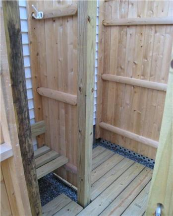 West Dennis Cape Cod vacation rental - Outdoor Shower with changing area