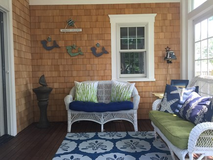 West Yarmouth Cape Cod vacation rental - Relax on the sunny screened porch after the beach