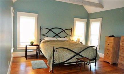West Yarmouth Cape Cod vacation rental - 1st-floor master, king bed, ensuite bath & exit to outdoor shower