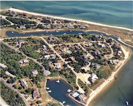 West Yarmouth Cape Cod vacation rental - Look for our pool near center of photo