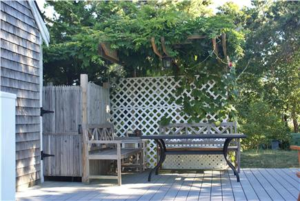 Eastham Cape Cod vacation rental - Deck with Wisteria Pergola