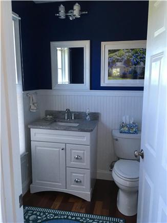 Falmouth Cape Cod vacation rental - Half bathroom on second floor