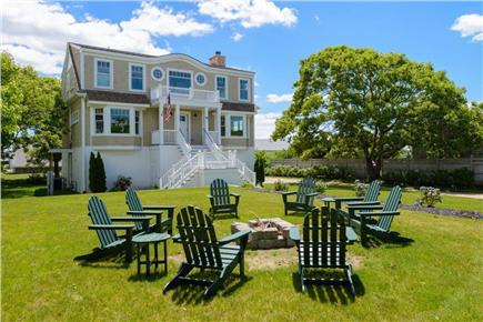 Falmouth Cape Cod vacation rental - Beautiful landscaped property, front yard fire pit