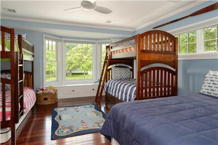 Falmouth Cape Cod vacation rental - Bedroom 3 with view to yard and Great Pond