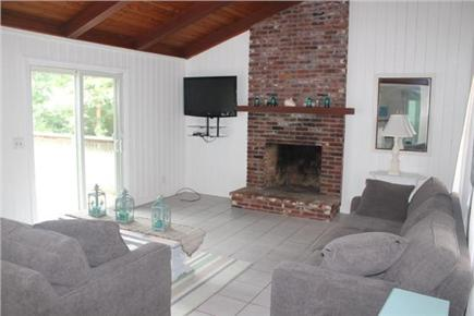 Eastham Cape Cod vacation rental - Living room with flat screen TV and cathedral ceilings