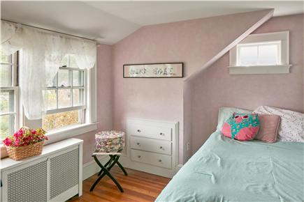 Falmouth Cape Cod vacation rental - Back bedroom overlooks spacious backyard and gardens