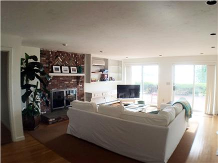 Downtown Chatham Cape Cod vacation rental - Family Room, walk out to patio - with waterview