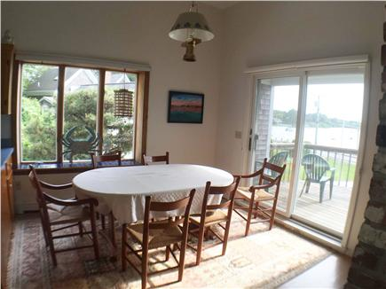 Downtown Chatham Cape Cod vacation rental - Dinning area with adjacent deck with waterview