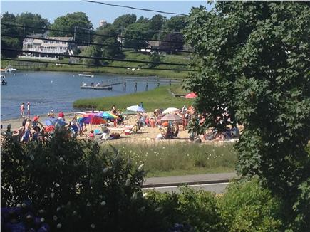 Downtown Chatham Cape Cod vacation rental - View of Oyster Pond Beach from house