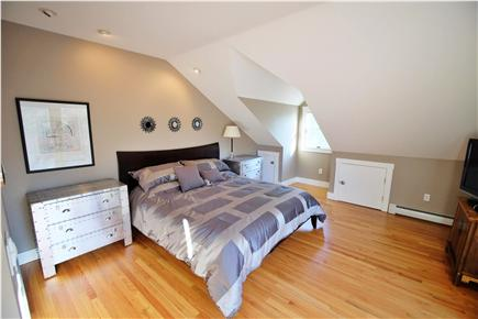 Provincetown Cape Cod vacation rental - Master Bedroom Suite featuring a king bed, balcony and full bath.