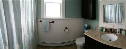 Harwich Cape Cod vacation rental - Upstairs bathroom with shower/tub