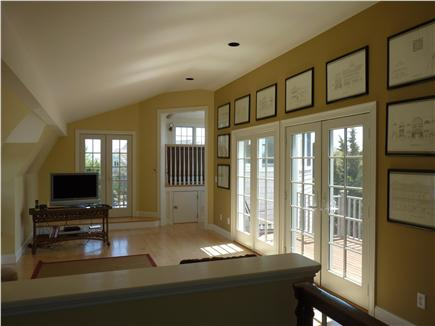 Orleans Cape Cod vacation rental - Upper level family / TV area leads to tower room