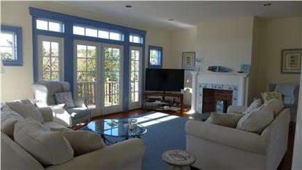 Orleans Cape Cod vacation rental - First floor family room with french doors leading to outdoor deck