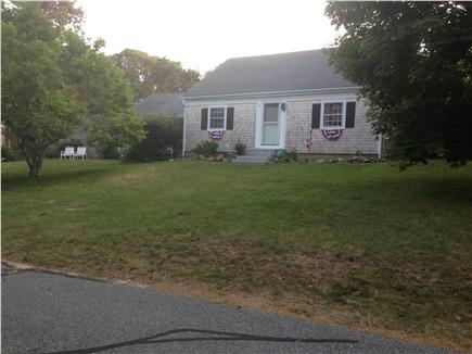 Harwich Port/South Harwich Cape Cod vacation rental - Main House front. Kitchen, FR & So Wing out of view. Cul de Sac.
