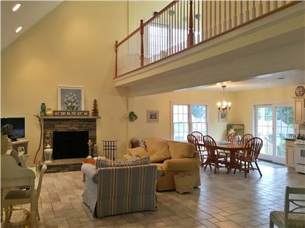 Dennisport Cape Cod vacation rental - Open concept includes the family room, dining room and kitchen