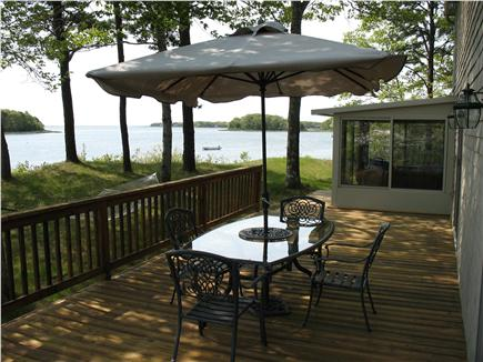 Mashpee Cape Cod vacation rental - Spacious Back Deck overlooking  the Bay