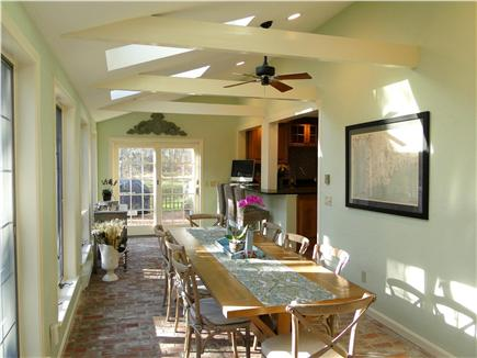 barnstable cape cod vacation rental dining area facing kitchen back