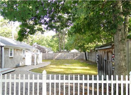 South Dennis Cape Cod vacation rental - Fenced in back yard, with outdoor shower