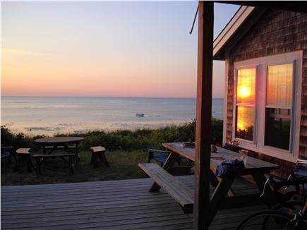 Brewster Cape Cod vacation rental - Sunset from the downstairs deck