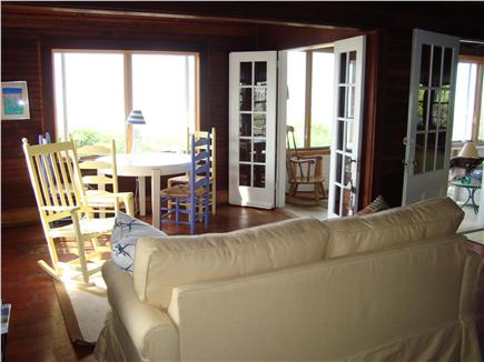 Brewster Cape Cod vacation rental - Den overlooking bay, entrance to sun room through french doors