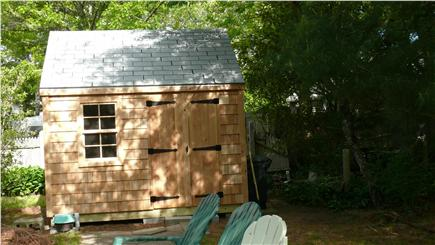 West Yarmouth Cape Cod vacation rental - Shed in back yard