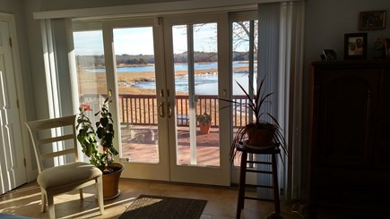 Pocasset, Bourne Pocasset vacation rental - View from master bedroom through French doors to deck
