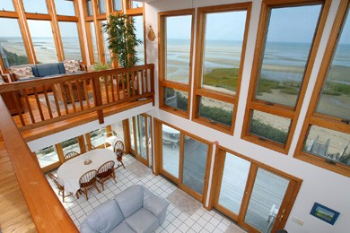 Eastham Cape Cod vacation rental - From upper level, to tower room and below at low tide