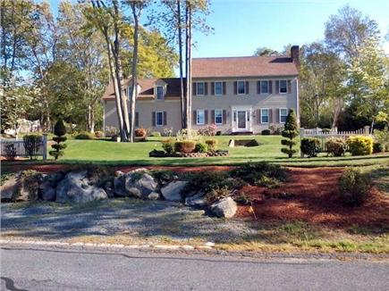 East Dennis Cape Cod vacation rental - Large Colonial sits back on acre lot