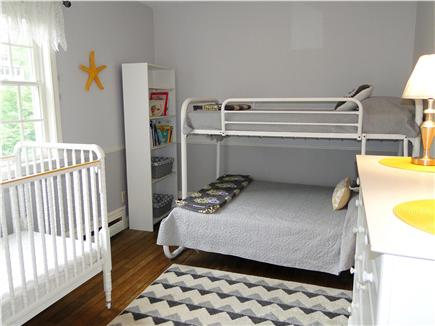 East Dennis Cape Cod vacation rental - Bunk bed room upstairs, with crib
