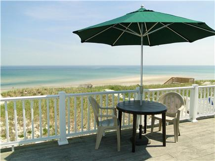 East Sandwich Cape Cod vacation rental - Enjoy your meals on the large deck overlooking the beach