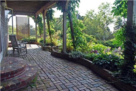 Falmouth, Sippewissett Cape Cod vacation rental - Enjoy your morning coffee on the patio outside the bedrooms