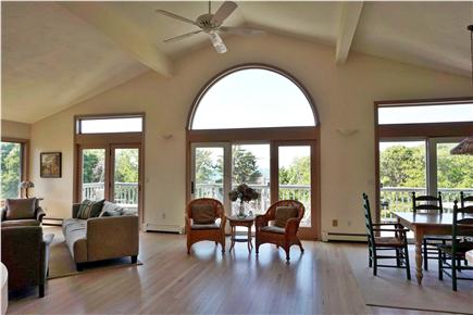 Falmouth, Sippewissett Cape Cod vacation rental - Our spacious, light-filled Great Room with ocean and sunset views