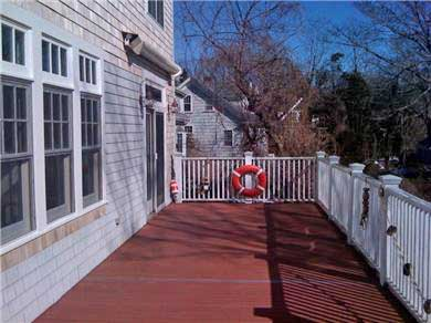 Woods Hole, Falmouth Woods Hole vacation rental - Large deck with retractable awning also has a gas grill and table