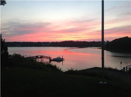 West Dennis Cape Cod vacation rental - ..and looking southwest; beautiful sunsets right behind flag pole