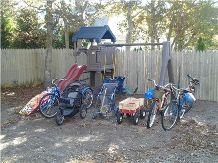 South Yarmouth Cape Cod vacation rental - Swingset and bicycles!