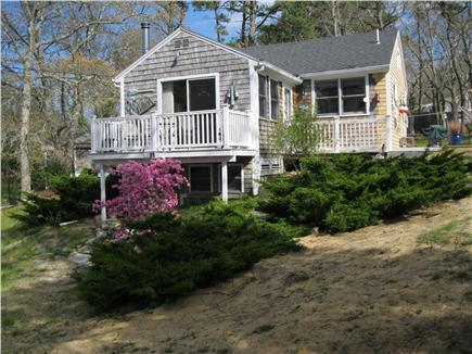 North Eastham Cape Cod vacation rental - Front of Cottage with New Deck with table and chairs