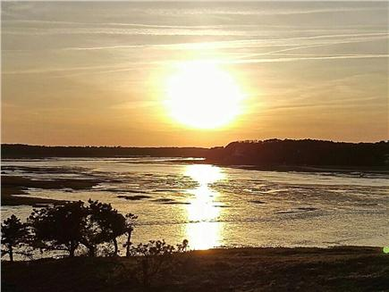 Wellfleet Cape Cod vacation rental - Typical sunny day sunset over low tide