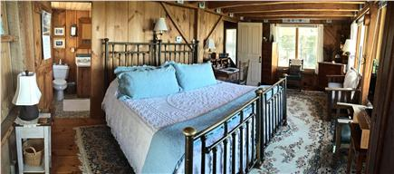 Wellfleet Cape Cod vacation rental - Additional view of master bedroom; remodeled bathroom.
