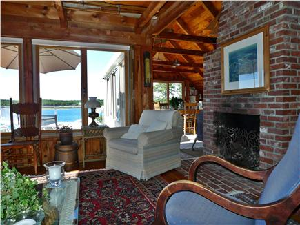 Wellfleet Cape Cod vacation rental - Comfortable Living Area with Working Fireplace