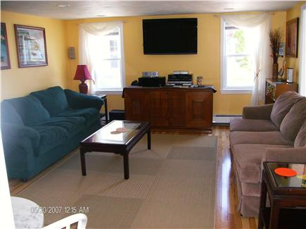 Dennis Port Cape Cod vacation rental - View from kitchen to Living room and sun porch