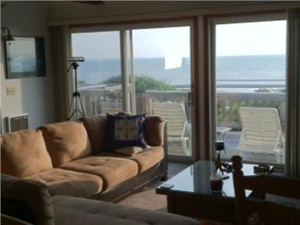Eastham Cape Cod vacation rental - Part of the Great Room with views of the Bay over the deck